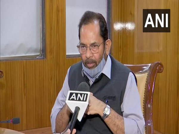 Union Minister Mukhtar Abbas Naqvi speaking to ANI on Saturday.