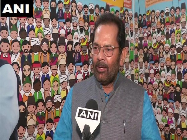 Union Minister Mukhtar Abbas Naqvi speaking to ANI on Thursday.