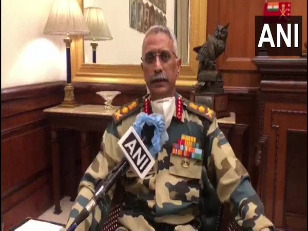 Army Chief Gen Manoj Mukund Naravane speaking to ANI in New Delhi on Wednesday.