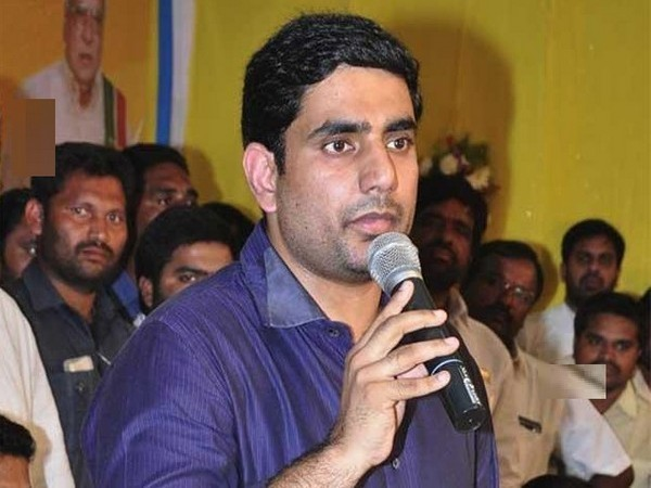 Nara Lokesh, son of AP Chief Minister N Chandrababu Naidu