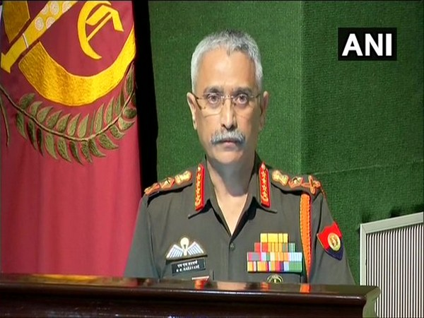 Army Chief General MM Naravane speaking at an event in New Delhi on Wednesday. Photo/ANI