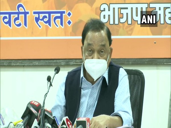 BJP leader Narayan Rane addressing a press conference in Mumbai on Tuesday.