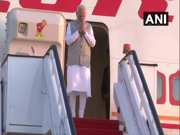PM Narendra Modi arrives in Brasilia on Wednesday.