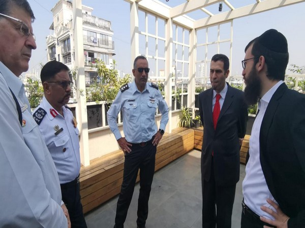 Israeli fire experts delegation at Nariman House in Mumbai on Tuesday
