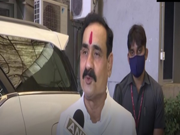 Narottam Mishra  speaking to ANI in Bhopal on Monday. (Photo.ANI)