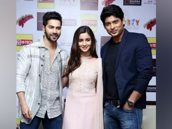 Varun Dhawan, Alia Bhatt, Sidharth Shukla (L to R) (Image source: Instagram)