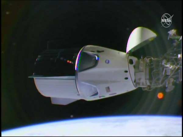 The NASA-SpaceX Crew Dragon docked to the International Space Station (Image Source: NASA)