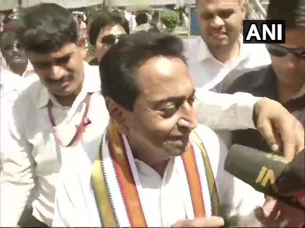 Kamal Nath speaking to the media in Chhindwara  on Tuesday.