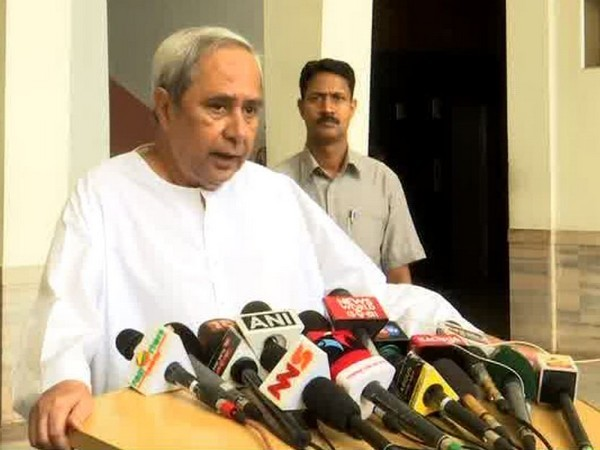 Odisha Chief Minister Naveen Patnaik speaking to media persons in Bhubaneswar on Tuesday. Photo/ANI