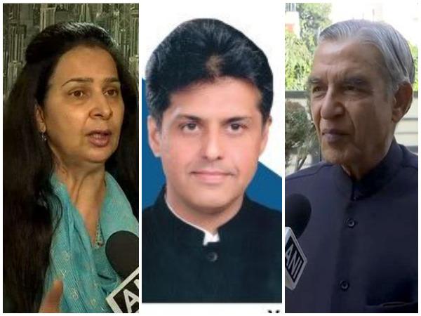 Navjot Kaur Sidhu, Manish Tiwari, Pawan Bansal (File Photo)
