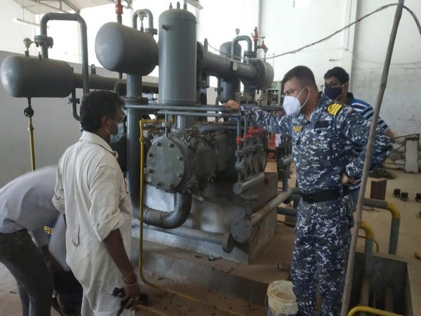 Indian Navy teams successfully repaired the oxygen plants this morning.