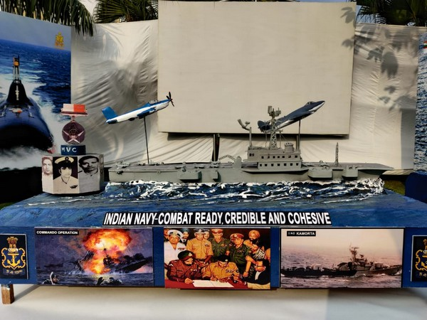 A model of tableau of the Indian Navy for Republic Day Parade.