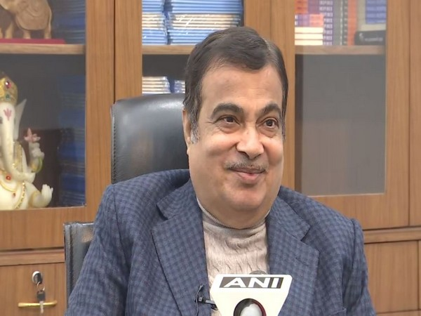 Union Minister Nitin Gadkari talking to ANI on Tuesday.