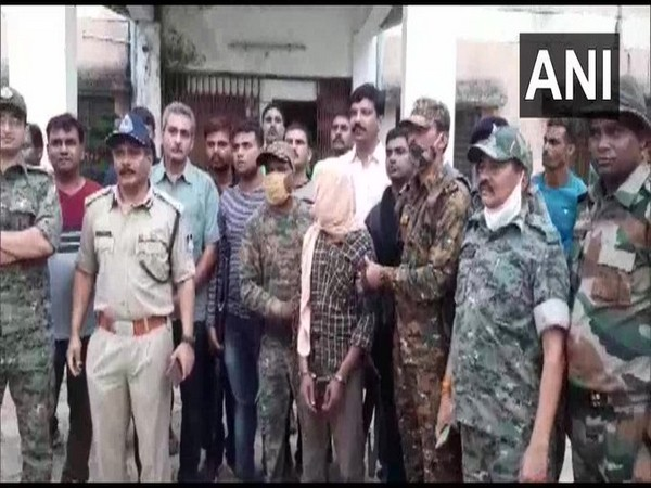 One Naxal was arrested in the Baihar area of Balaghat district on Thursday. (Photo/ANI)