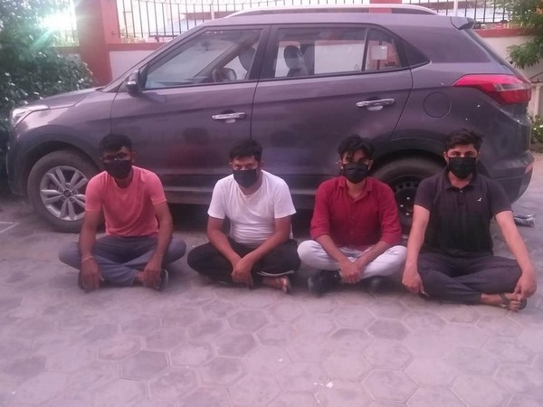 The four men arrested in the Jodhpur drug bust. Photo/ANI