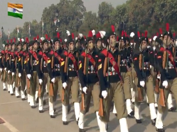 NCC girls marching contingent at Republic Day.