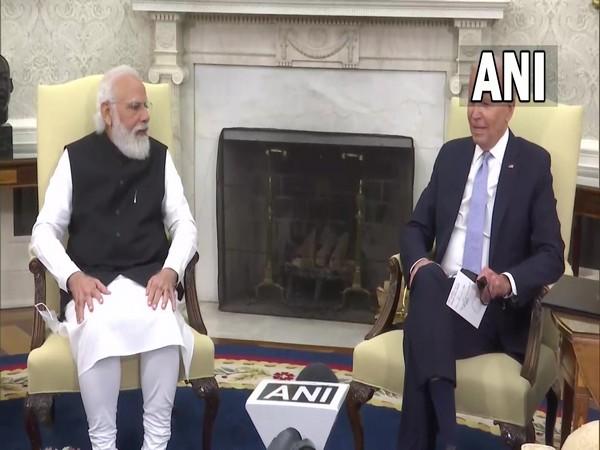 Prime Minister Narendra Modi and US President Joe Biden at the White House.
