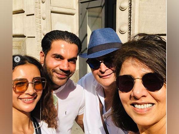 Patralekha, Rajkummar Rao, Rishi and Neetu Kapoor (Image courtesy: Instagram)