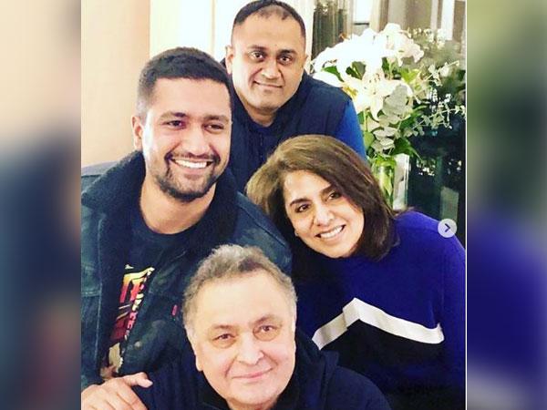 Vicky Kaushal, Neetu Kapoor and Rishi Kapoor (Picture courtesy: Instagram)