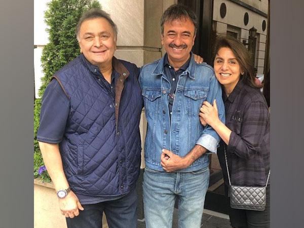 Rishi Kapoor, Rajkumar Hirani and Neetu Kapoor, image courtesy, Instagram