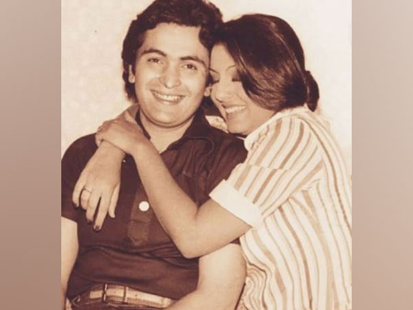 Neetu Kapoor with late husband Rishi Kapoor (Image Source: Instagram)