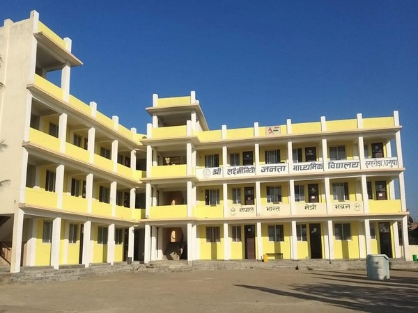 The new school building built by India in Nepal's Dhanusha
