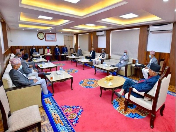 Meeting of Nepal's NCP (File pic)