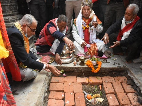 Foundation stone laid for restoration of Seto Machindranath temple in Kathmandu (Photo Credit: Twitter/ India in Nepal)