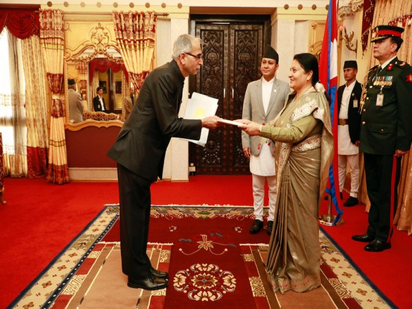 Vinay Mohan Kwatra presented his credentials to Nepali President Bidya Devi Bhandari in Kathmandu on Thursday