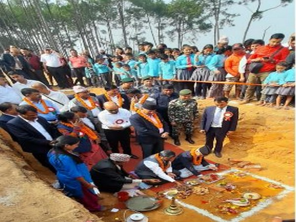 Ground-breaking ceremony performed for polytechnic being built in Hetauda, Nepal on Tuesday.