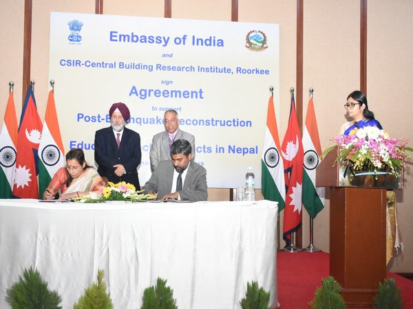 MoU being signed by representatives in Kathmandu, Nepal on March 6