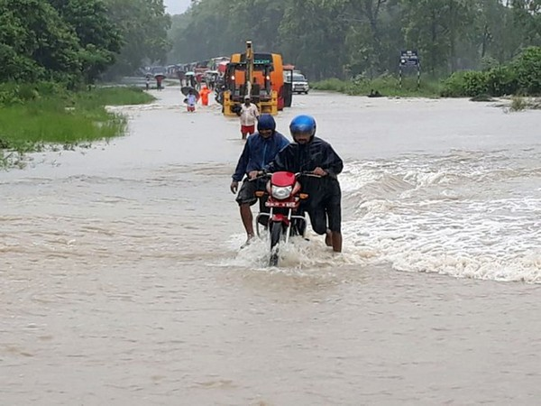 Flooding caused by heavy rainfall in Nepal