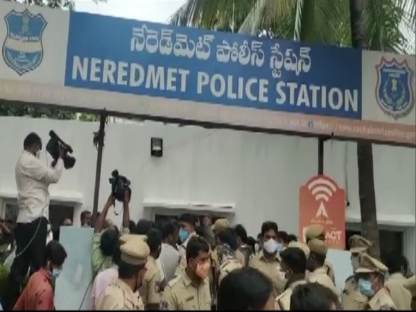 Visuals from Neredmet Police Station