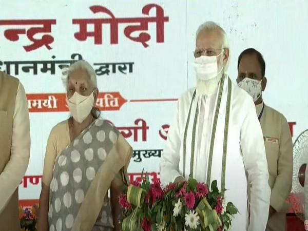 Prime Minister Narendra Modi laid the foundation stone of Raja Mahendra Pratap Singh State University in Aligarh. (Photo/ ANI)