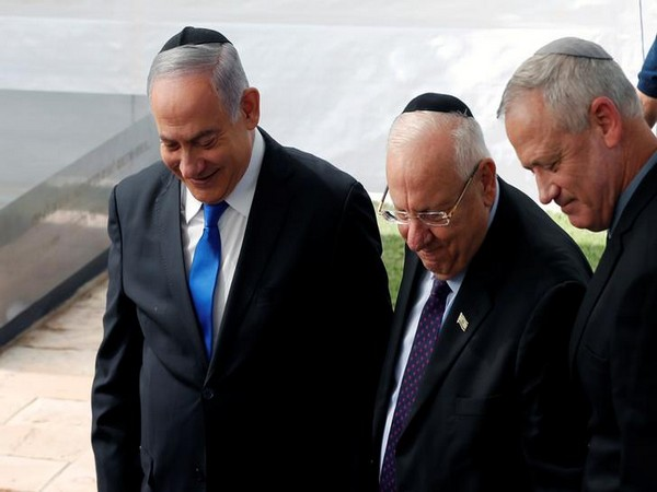 From L to R: Israeli PM Benjamin Netanyahu, President Reuven Rivlin, Blue and White party leader Benny Gantz (File photo)
