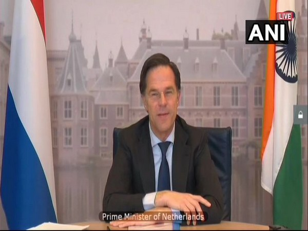 Netherlands Prime Minister Mark Rutte on Friday, during a virtual summit with Prime Minister Narendra Modi.