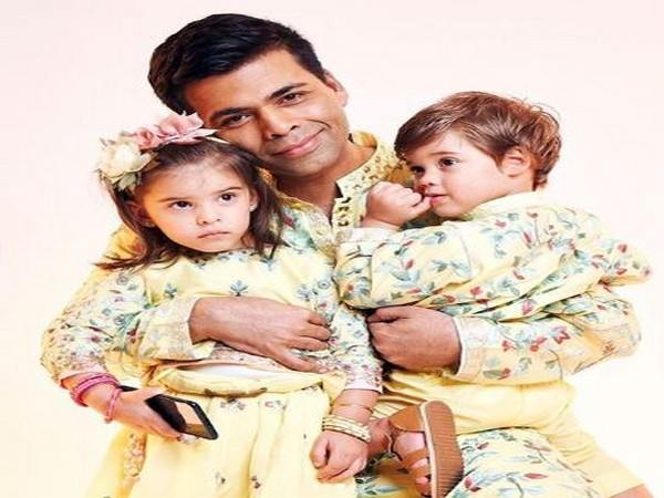 Karan Johar with his children Roohi and Yash  (Image courtesy: Instagram)