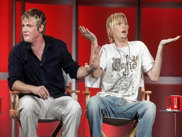 Singers and brothers Nick Carter and Aaron Carter