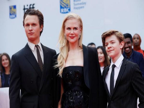 Ansel Elgort, Nicole Kidman and Oakes Fegley at the Toronto International Film Festival