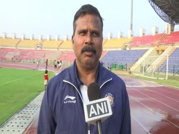 Assam's athletics coach Nipon Das talking to ANI.
