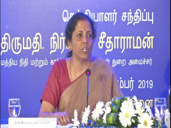 Union Finance Minister Nirmala addresses a press conference in Chennai on Tuesday [Photo/ANI]