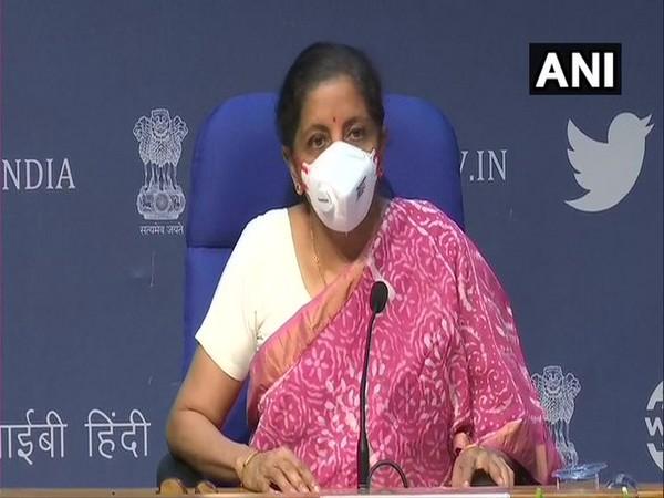 Union Finance Minister Nirmala Sitharaman addressing the media on Thursday in New Delhi. [Photo/ANI]