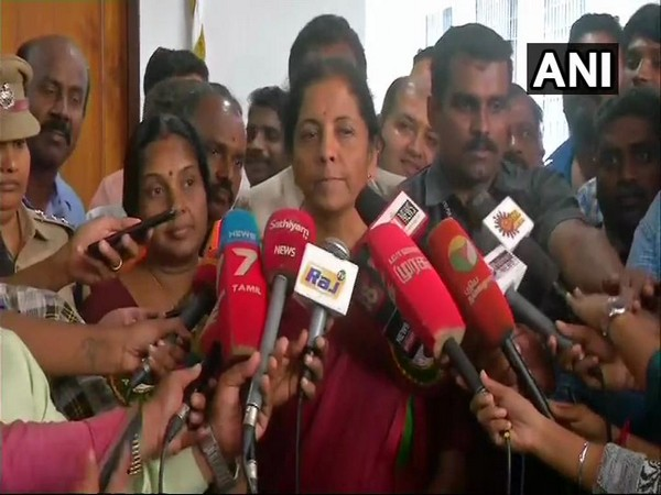 Defence Minister Nirmala Sitharaman speaking to media in Chennai on Tuesday.