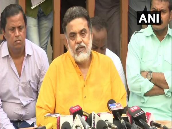 Sanjay Nirupam speaking to reporters in Mumbai on Friday.