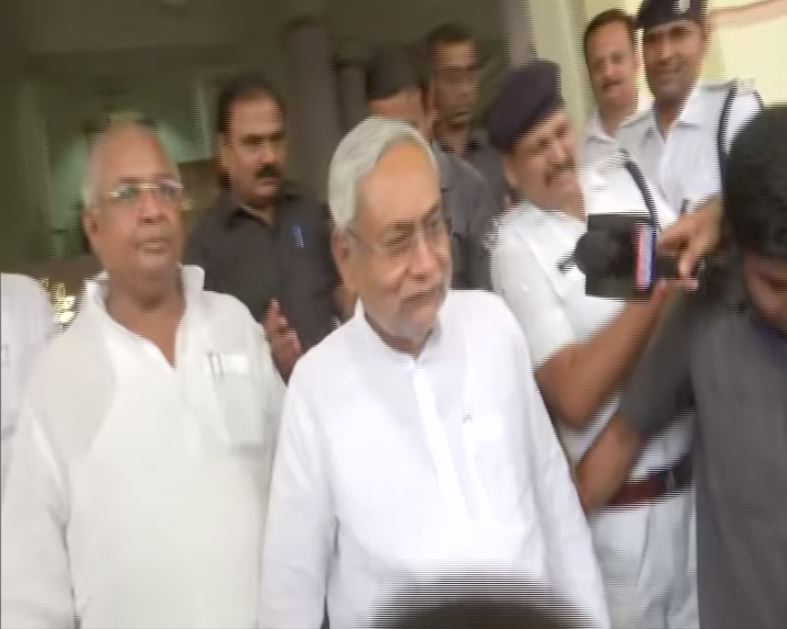 CM Nitish Kumar at the Legislative Assembly in Patna on Friday. Photo/ANI