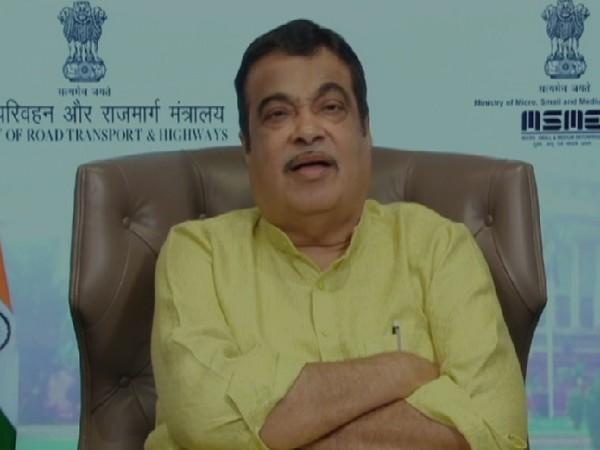 Union Minister Nitin Gadkari addressing a webinar on Monday.