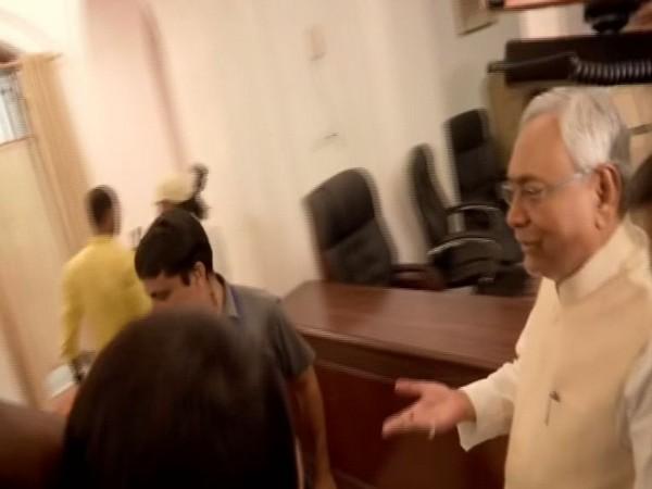 Bihar Chief Minister Nitish Kumar in Patna, Bihar on Monday. Photo/ANI