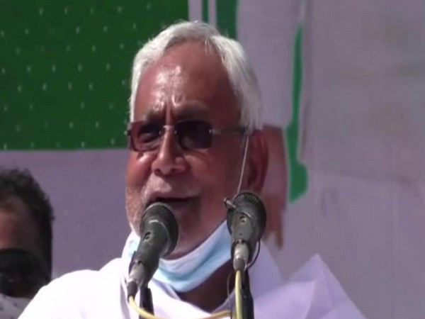 Bihar Chief Minister Nitish Kumar speaking at a rally on Thursday.