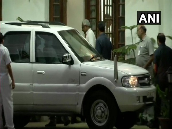 Bihar Chief Minister Nitish Kumar leaves from former President Pranab Mukherjee's residence after meeting him in New Delhi on Sunday.