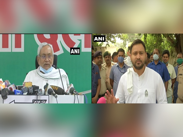 Bihar Chief Minister Nitish Kumar (left) and RJD leader Tejashwi Yadav (right)